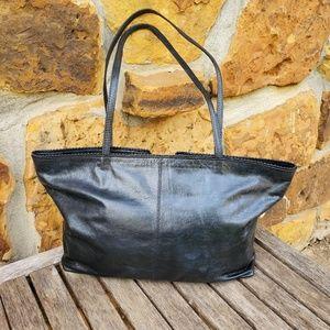 Latico leather shoulder bag tote scalloped edge
